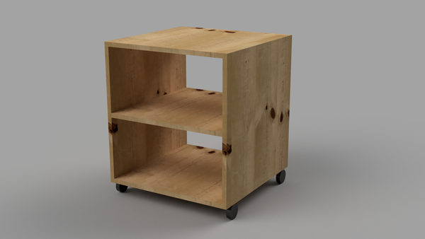 Bedside Table With Wheels and Shelf - skleia.com