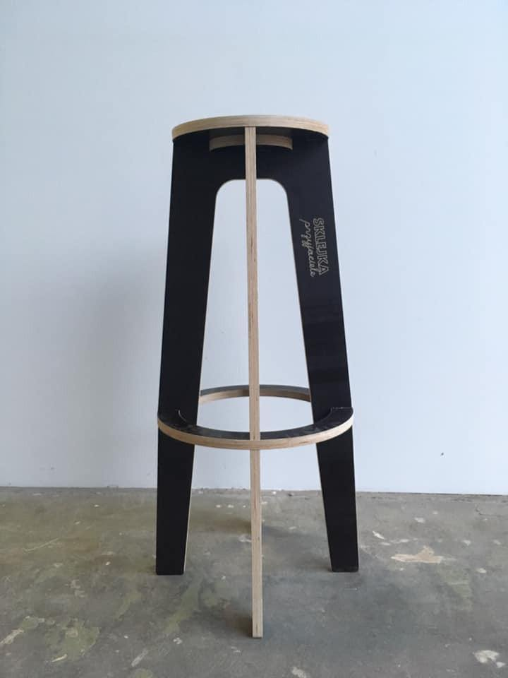 Plywood Bar Stool - skleia - custom size plywood furniture and accessories for musicians and home office - handmade ergonomic ecologic plywood furniture