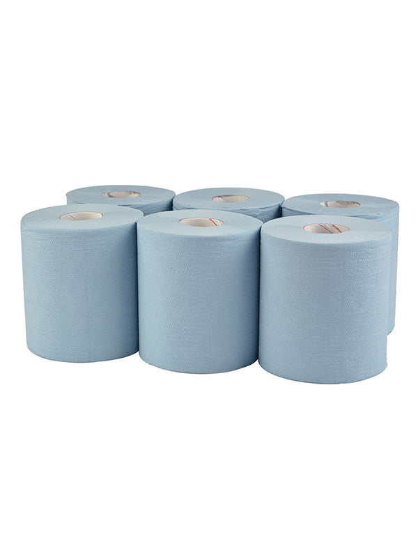 Centrefeed Blue Rolls 2-Ply - 150m long roll (Case of 6)