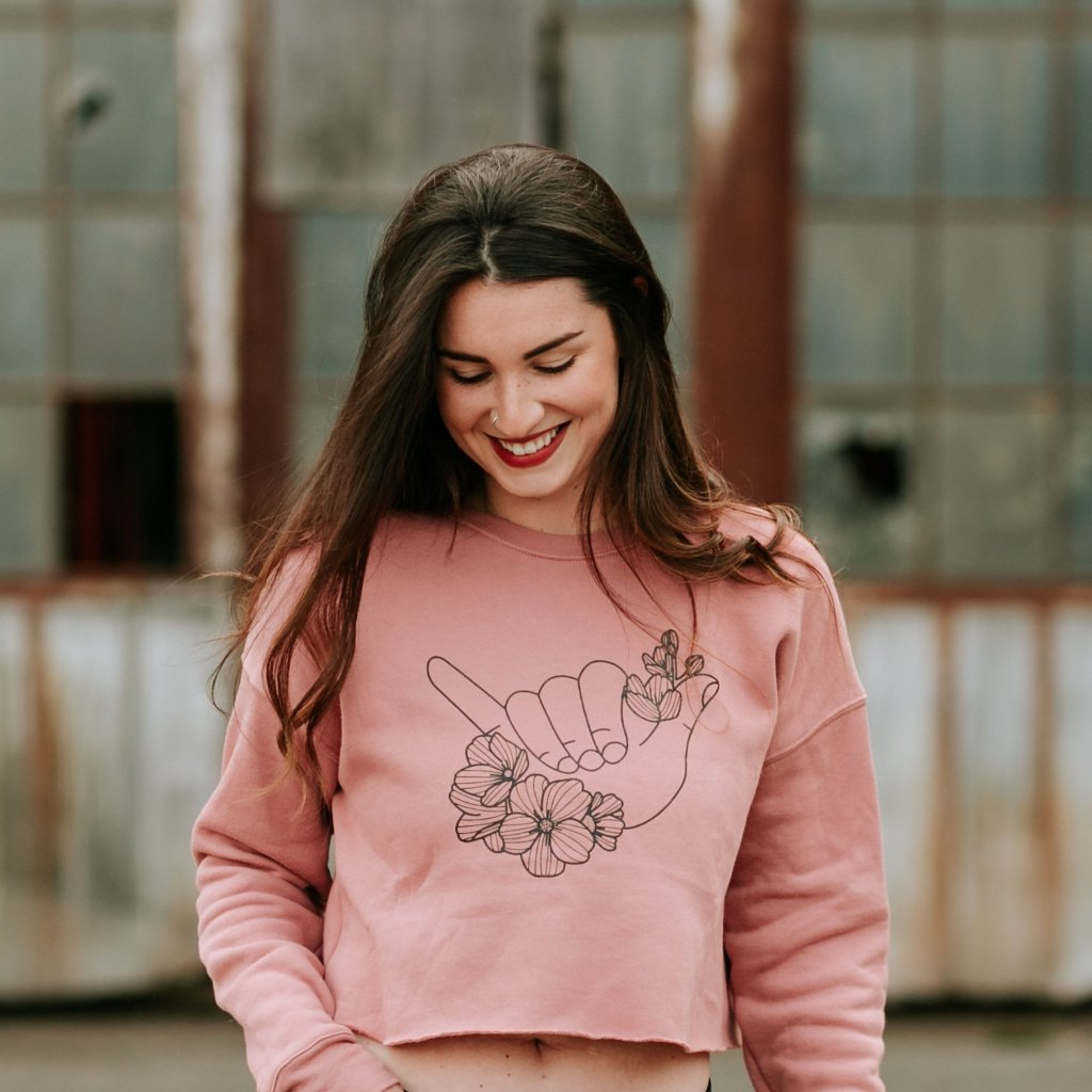 Shaka + Dogwood Cropped Crew Sweatshirt - Women's