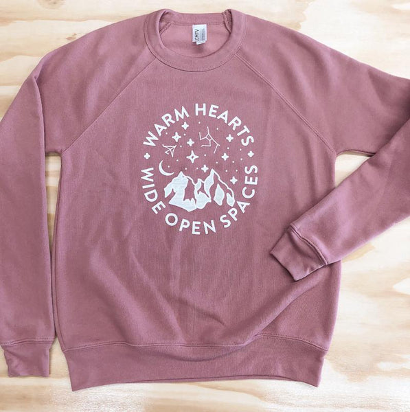Warm Hearts Crew Sweatshirt - Unisex