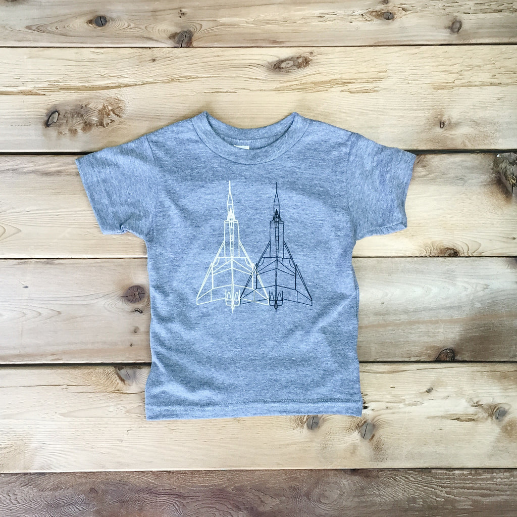Kids Avro Arrow Tee (ATHLETIC GREY) - Locomotive Clothing