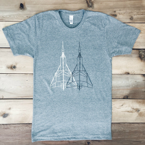 Avro Arrow Airplane Tee (ATHLETIC GREY) - Locomotive Clothing - 1