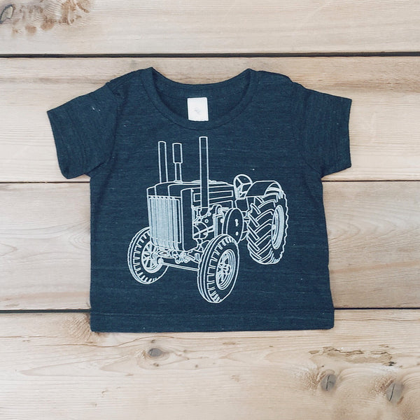 Babies Tractor Tee (TRI BLACK) - Locomotive Clothing