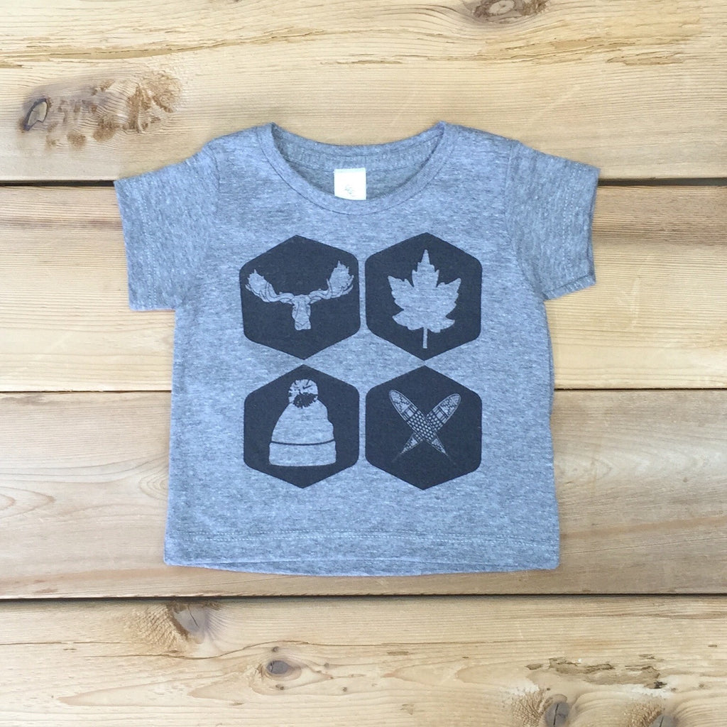 Babies Northern Icons Tee (ATHLETIC GREY) - Locomotive Clothing