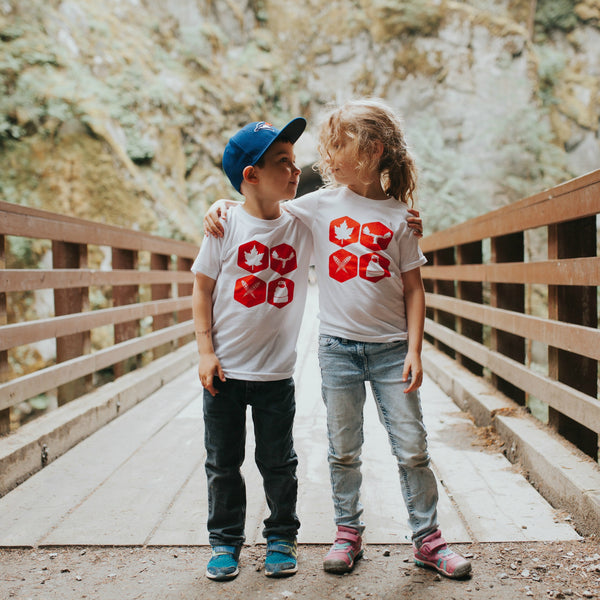 Canada 150 Edition Northern Icons Tee Kids (WHITE)