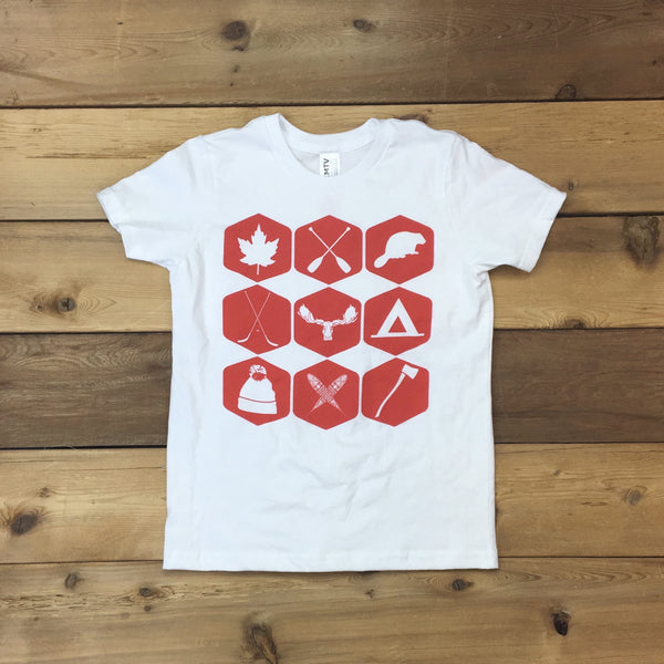 Canada 150 Edition Northern Icons Tee Youth (WHITE)