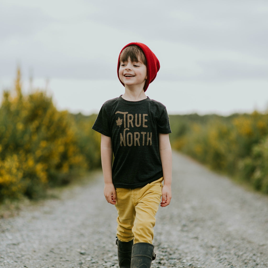 Kids True North Tee (TRI BLACK) - Locomotive Clothing - 2