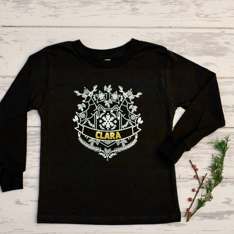 Holiday 2019 Custom Crewneck Long Sleeve Tee - Kids