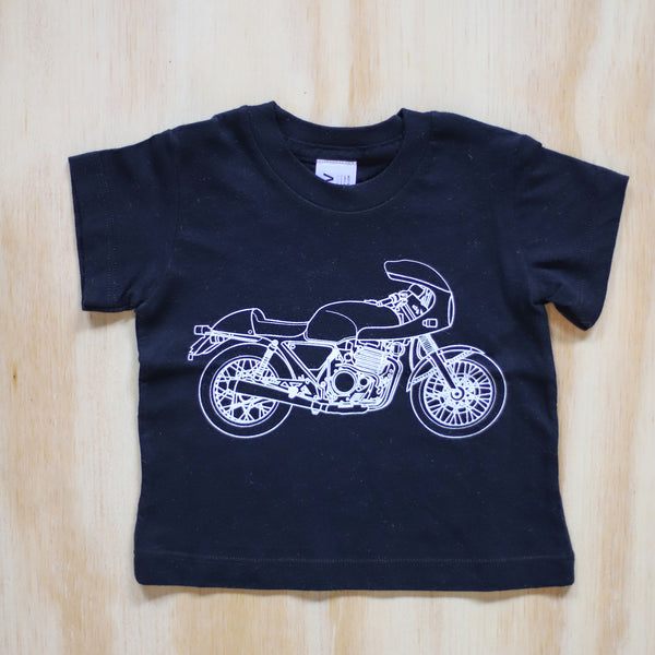 Cafe Racer Motorcycle Tee - Babies