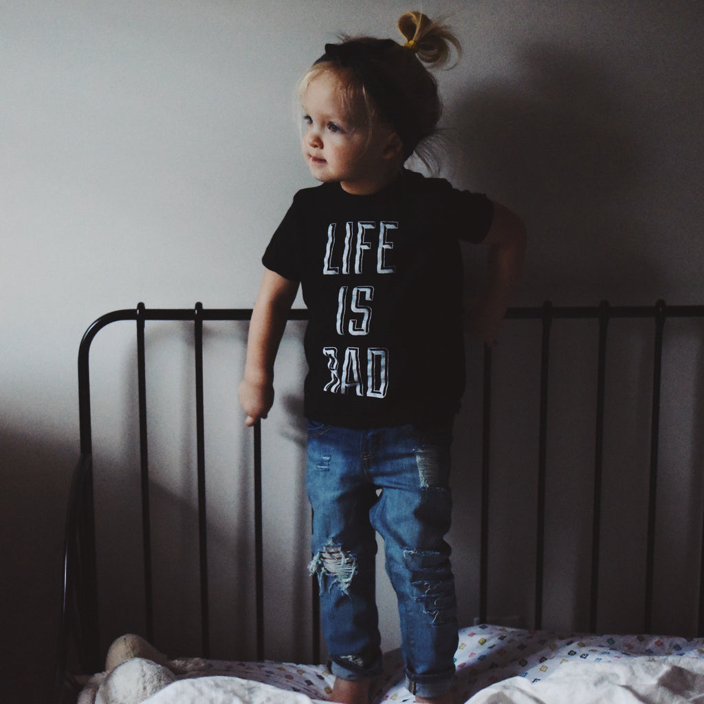 Babies Life is Rad Tee (BLACK) - Locomotive Clothing - 1