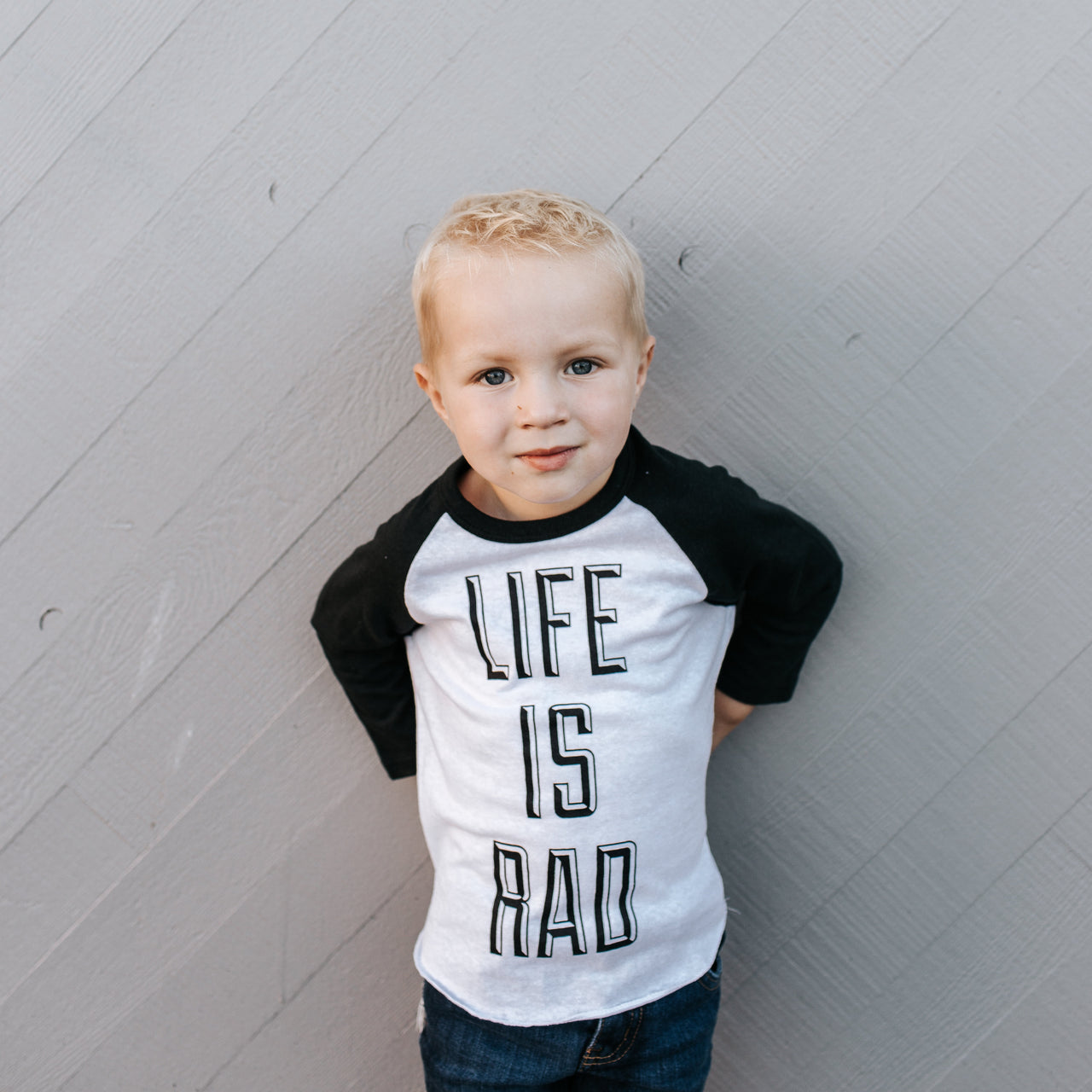 Life is Rad Baseball Tee - Kids