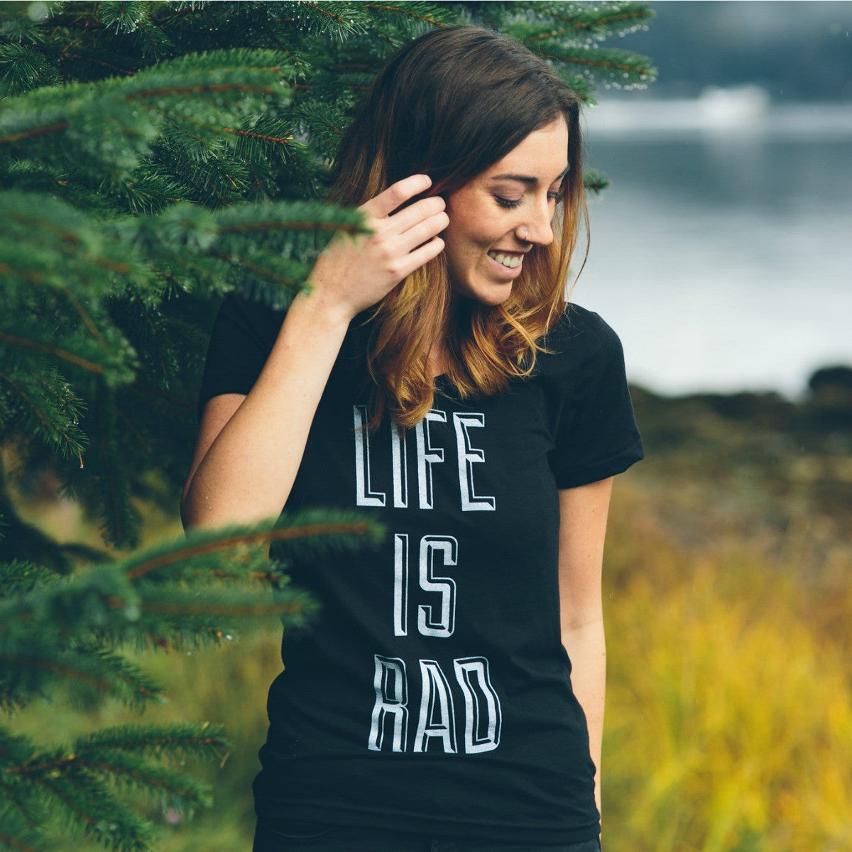 Life is Rad Tee (BLACK) - Locomotive Clothing - 1