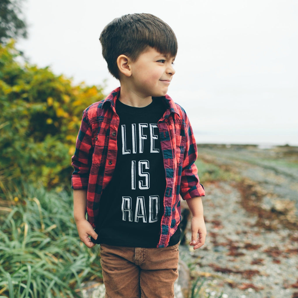 Kids Life is Rad Tee (BLACK) - Locomotive Clothing - 2