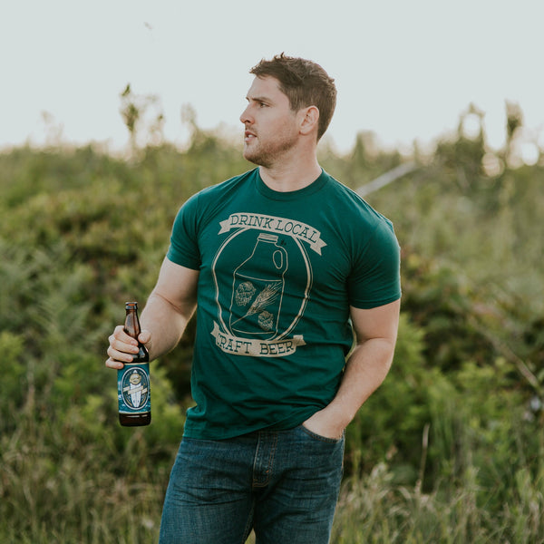 Craft Beer Tee (FOREST) - Locomotive Clothing - 1