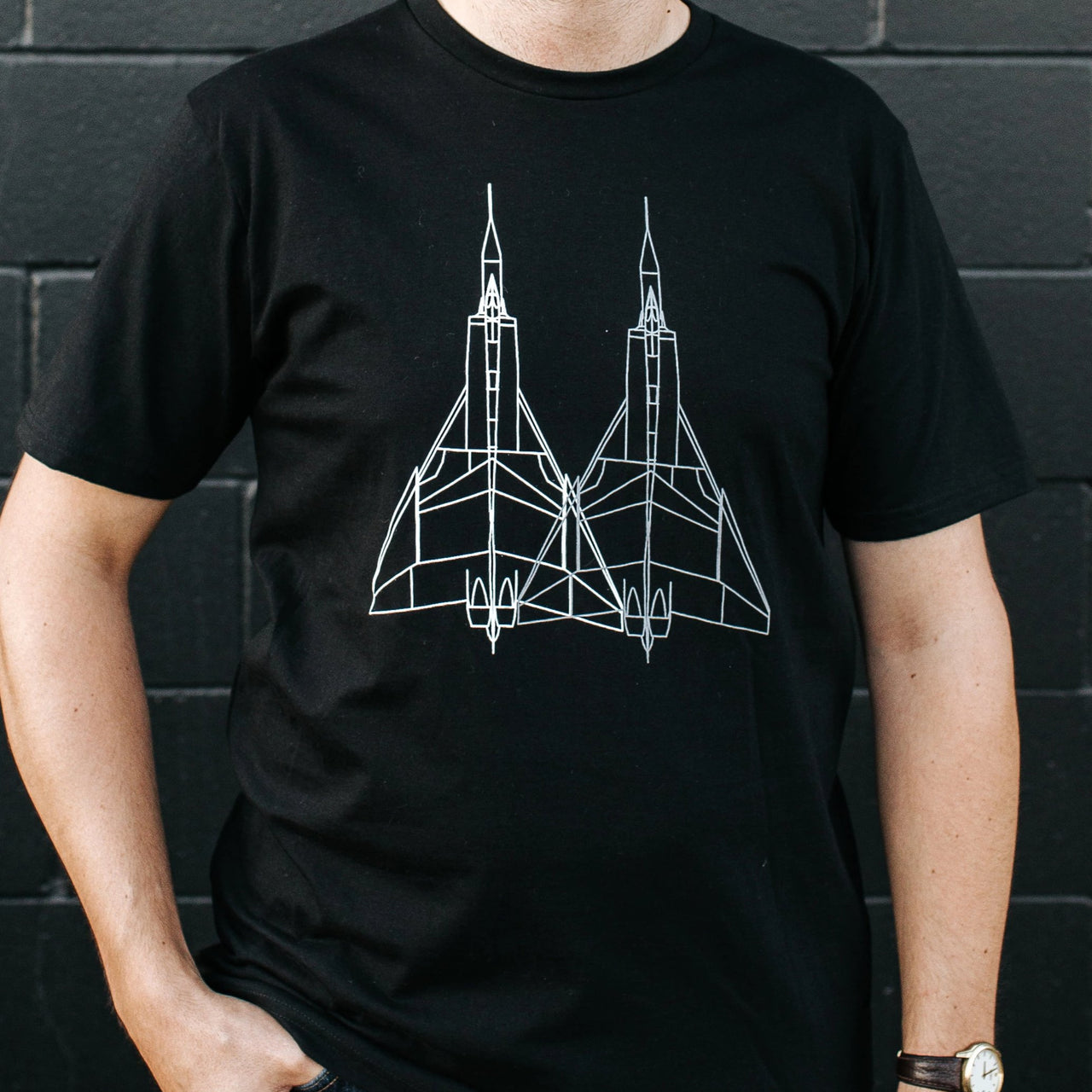 Avro Arrow Airplane Tee - Men