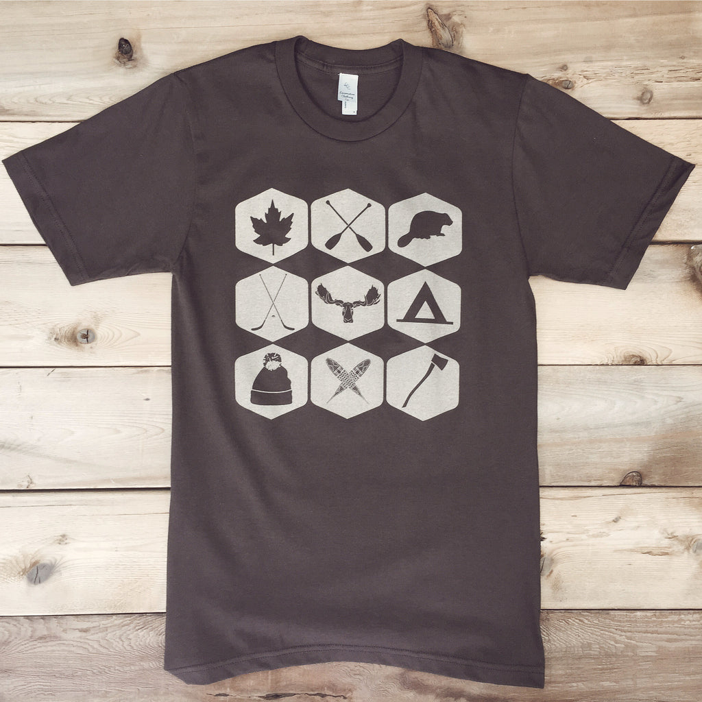 Northern Icons Tee (BROWN) - Locomotive Clothing - 3