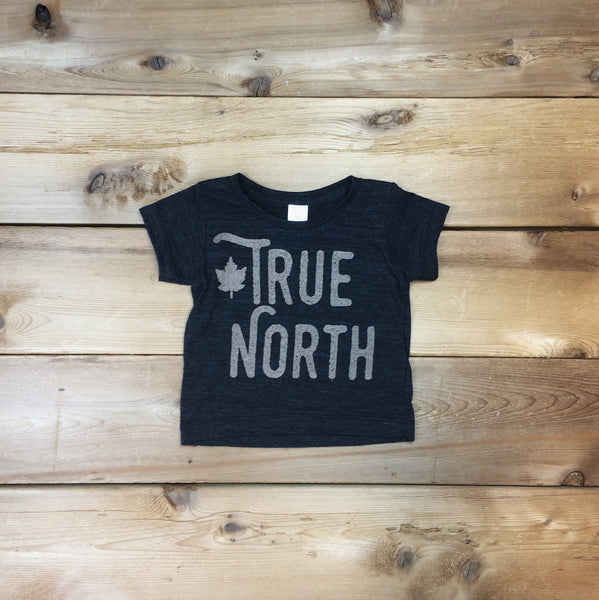 Babies True North Tee (TRI BLACK) - Locomotive Clothing