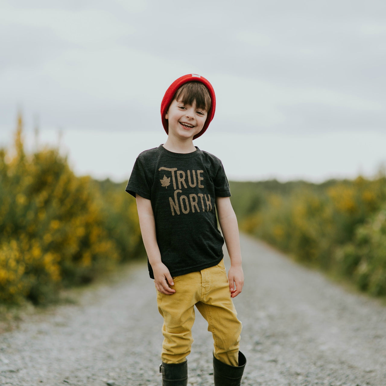 Kids True North Tee (TRI BLACK) - Locomotive Clothing - 1