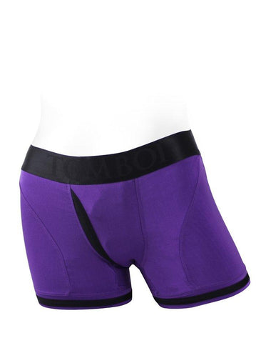 Tomboii Fabric Boxer Brief Harness Purple