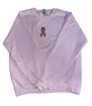 Aspect's Embroidered Breast Cancer Awareness Crewneck