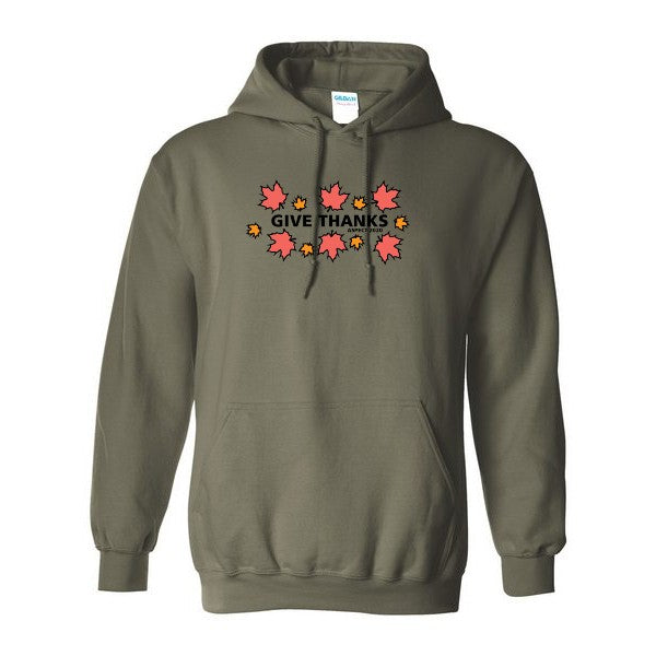 "Aspect's Embroidered ""Give Thanks"" Hoodie"