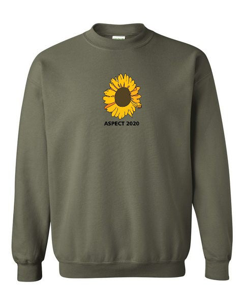 Aspect's Embroidered Sunflower Crewneck