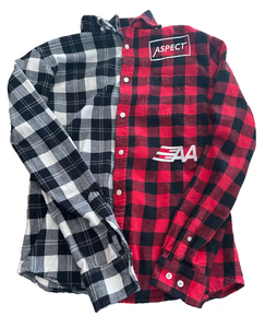 "Aspect's Medium Black & Red "" 1 Of 1"" Long Sleeve Flannel"