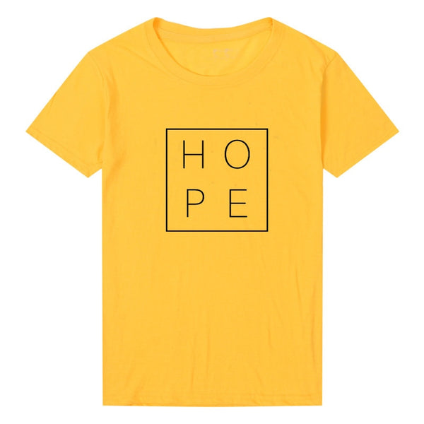 Short Sleeve Hope Print T-shirt