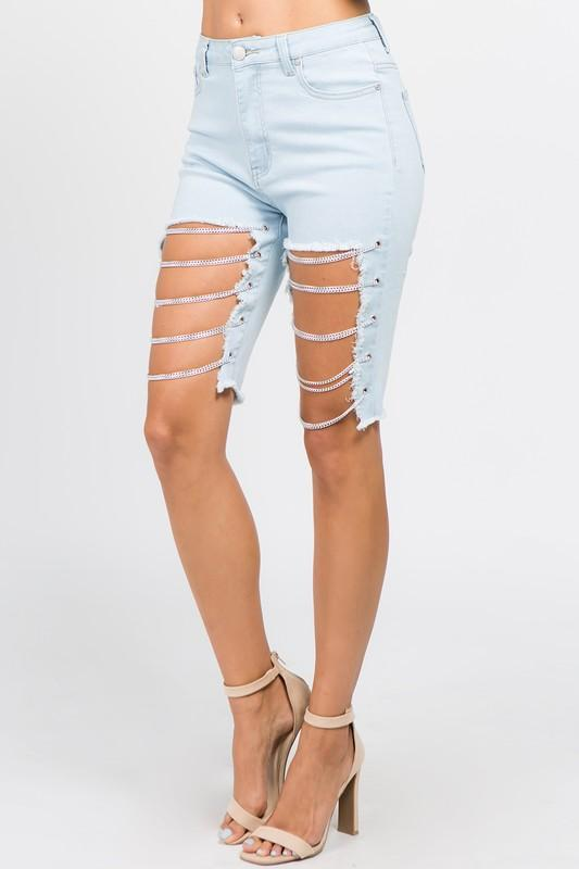 Bermuda Shorts With Chains