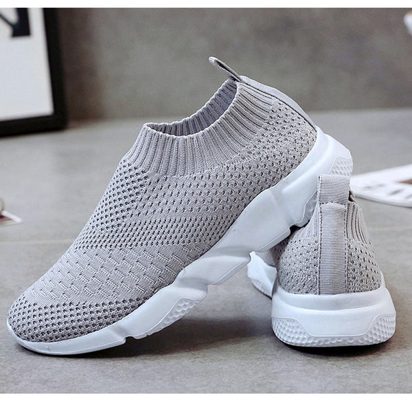 Breathable Slip On Flat Shoes Soft Bottom Sneakers