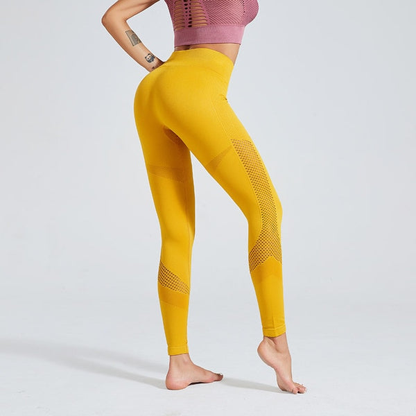 High Waist Solid Color Sports Leggings