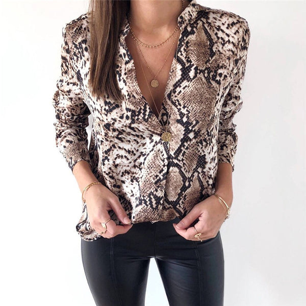 Diva Animal Snake Skin Printed Women Top