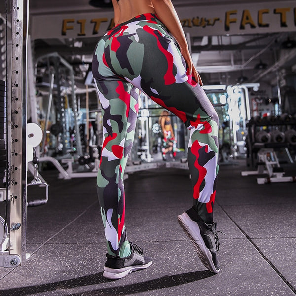 Camouflage Compression Push Up Leggings