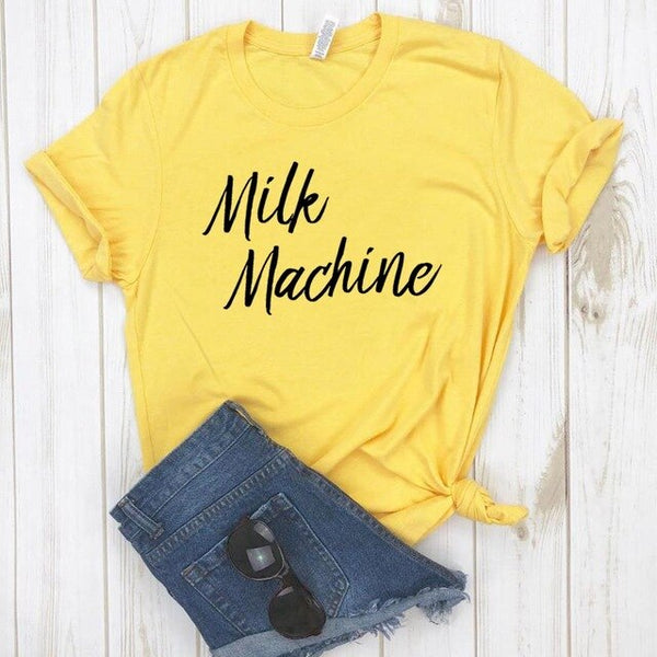 Milk Machine motherhood Funny t-shirt ( Plus size available)