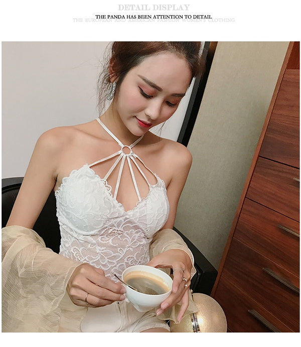 Sexy Women Vest Floral Bustier Crop Top Bra Shirt
