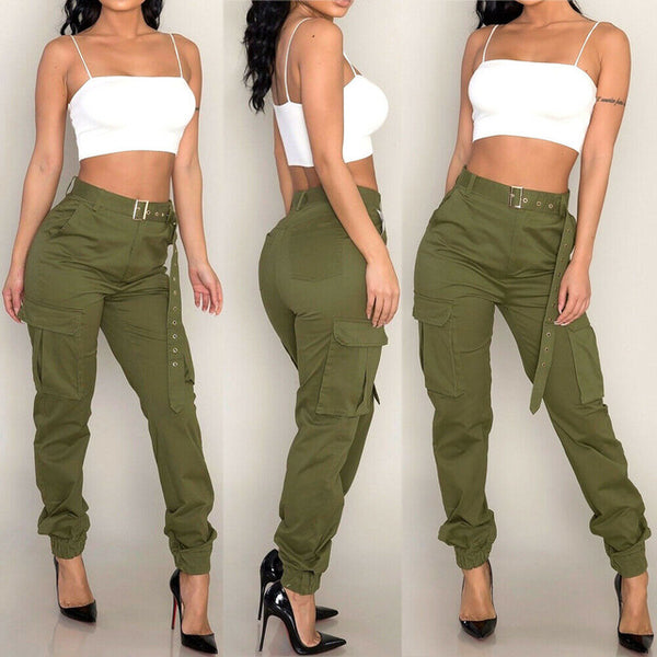 Diva Military Army Combat Camouflage Print cargo pants