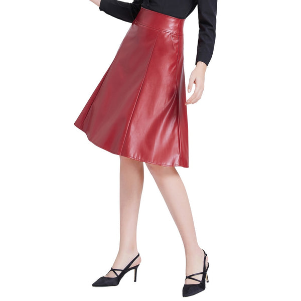 Women Leather Faux Leather Asymmetrical Pencil Skirts
