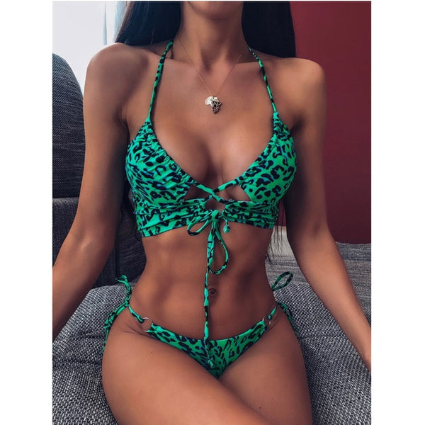 Women High Waist Bikini Swimsuit