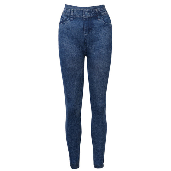 High Waist Blue Jeans Leggings Skinny Trousers