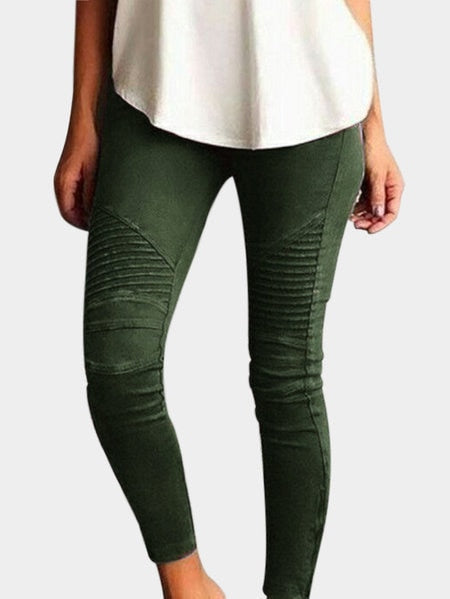 High Waist Elastic Skinny Stretch Pants Plus Size Available