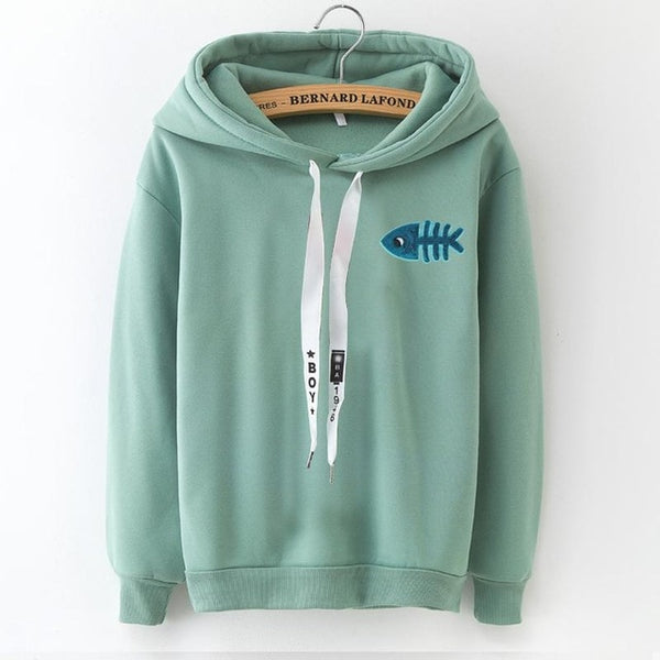 Solid Thick Loose Hoodies Sweatshirts Casual Coat