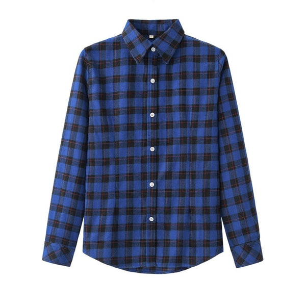 Plaid Flannel Shirt Long Sleeve (Plus Size Available)