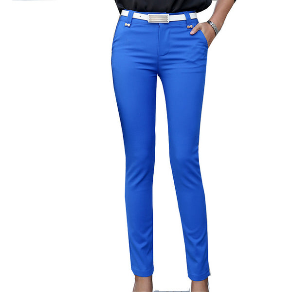 High Waist Fitted Casual Pencil Pants