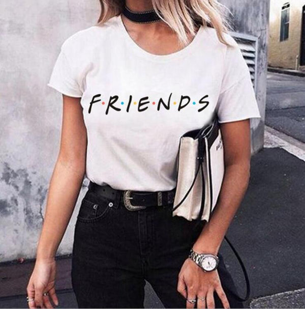 Short Sleeved Friends  Printed T-Shirt