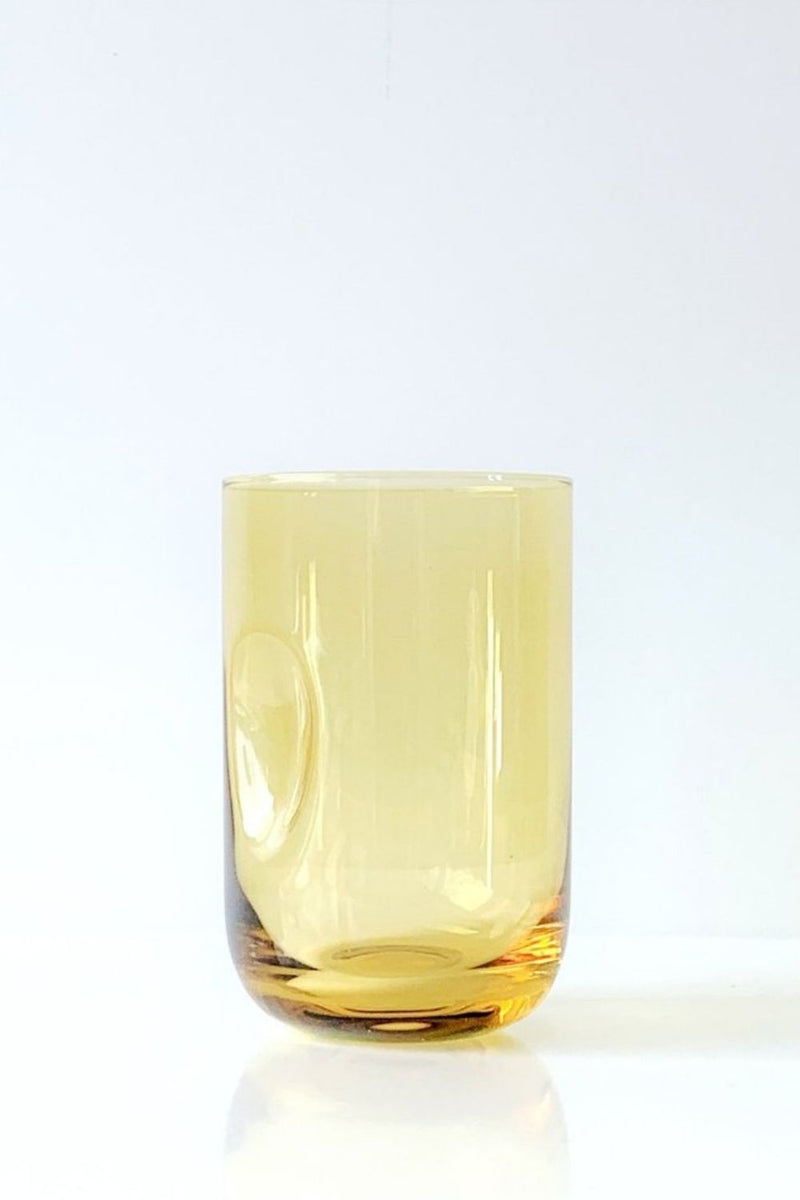 DIMPLE Glass Amber - Set of 2