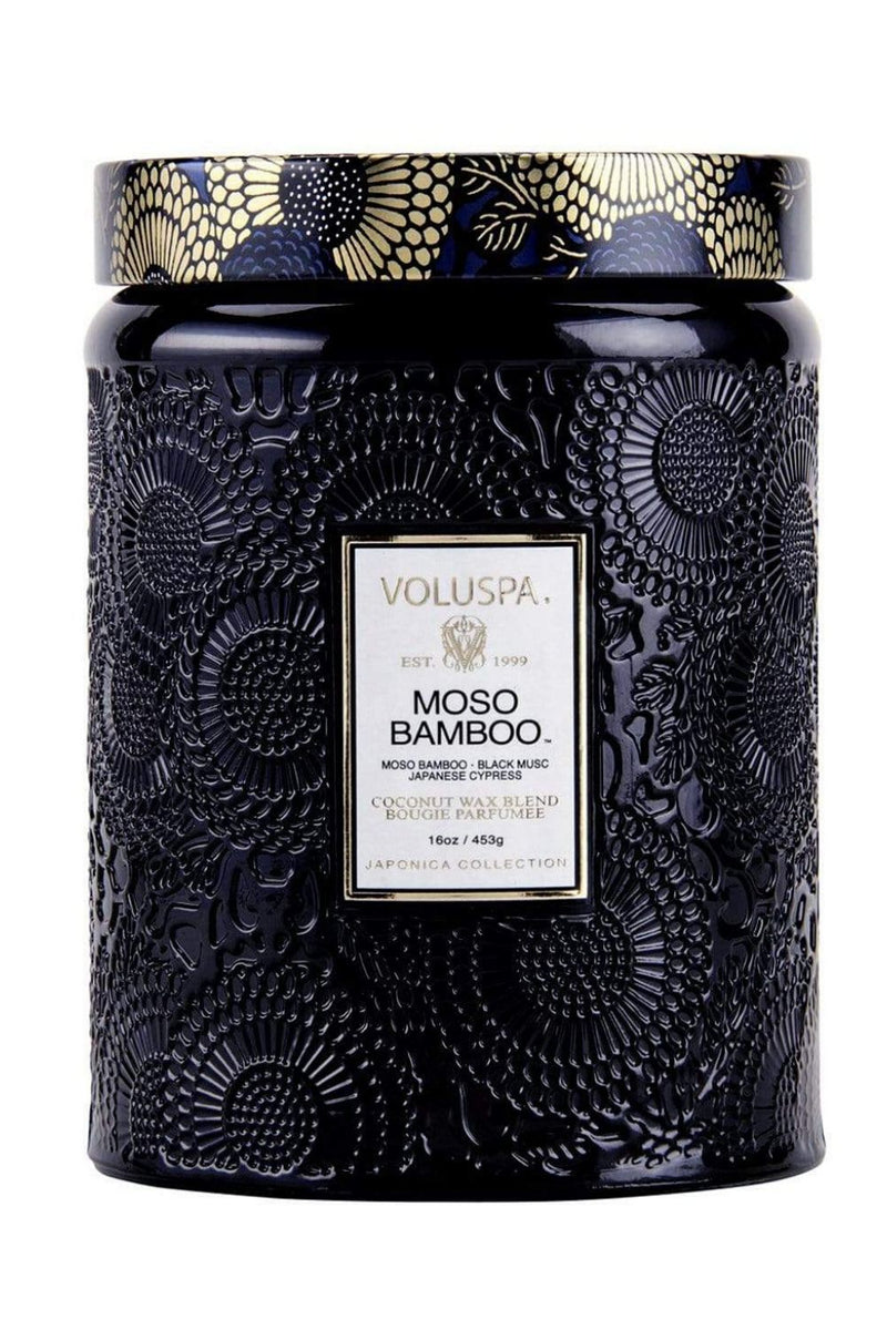 VOLUSPA MOSO BAMBOO 100hr CANDLE + GLASS LID