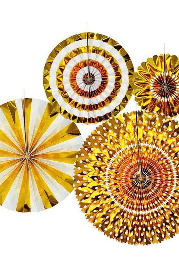 GOLD FAN SET - Decoration