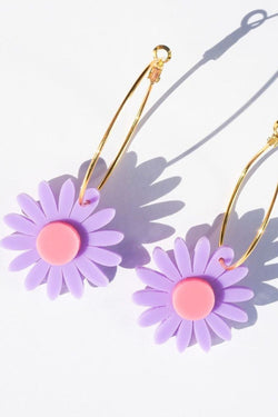 EMELDO - Daisy Earrings Mauve/Pink