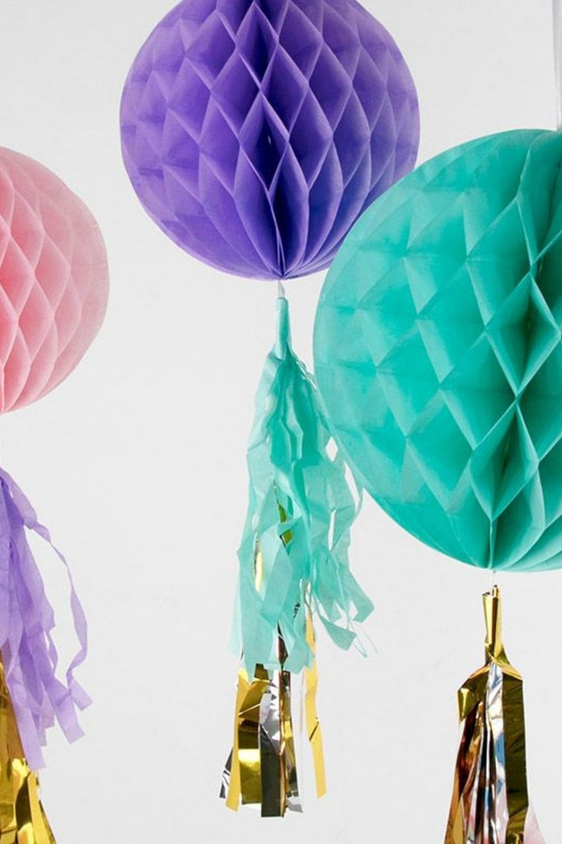 PASTEL HONEYCOMB SET OF 3 - Decoration